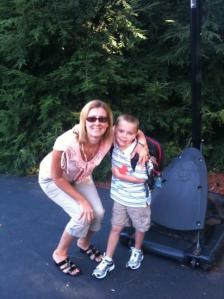 Mrs Bell with her son, Tyler