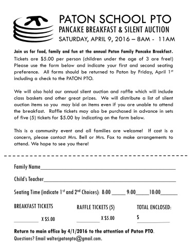 Pancake Ticket Flyer